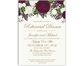 Rehearsal Dinner Invitation Template, DIY Rehearsal Invitation, Cheap Invitation, Rustic Invitation, INSTANT DOWNLOAD Microsoft Word #CL158
