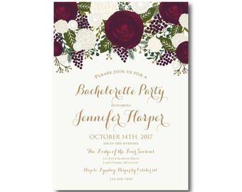 PRINTABLE Bachelorette Party Invitation, Bachelorette Party Invitation, Girls Night Out, Printable Invitation, Bachelorette Party #CL158