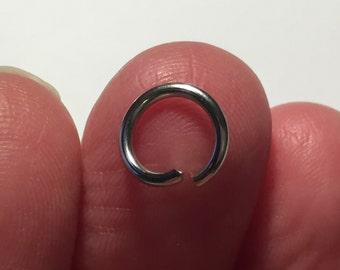200 Opened Jump Rings 9mm Stainless Steel Silver Tone - FD276