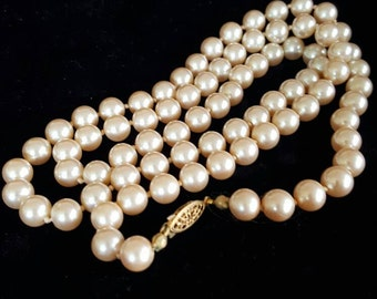 Knotted Single Strand Pearls by G. Silver©