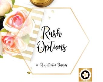 RUSH OPTIONS by Roxy Benton Designs