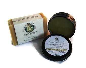 Poison Ivy Treatment Kit, Jewelweed Soap and Salve Combo, Poison Ivy Relief