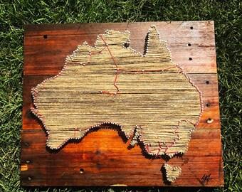 Personalised Australia Travel Map