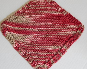 Pink Dishcloths, Knitted Dishcloths, Hand Made Dishcloths, Dishrags, Cotton Dishcloths, Hand Knitted Dishcloths
