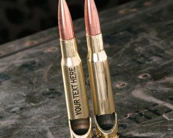 Custom Bottle Opener, Personalized 50 Caliber® Bullet Bottle Opener in Brass. Man Gift. Mens Gift. Boyfriend Gift. Made in the USA.