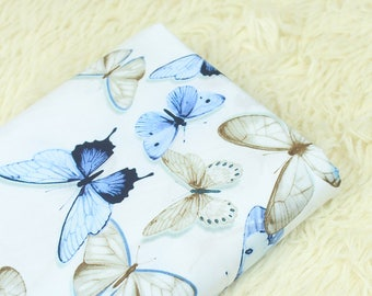 100x140cm/39x55inch Delicate Butterfly Cotton Plain Fabric