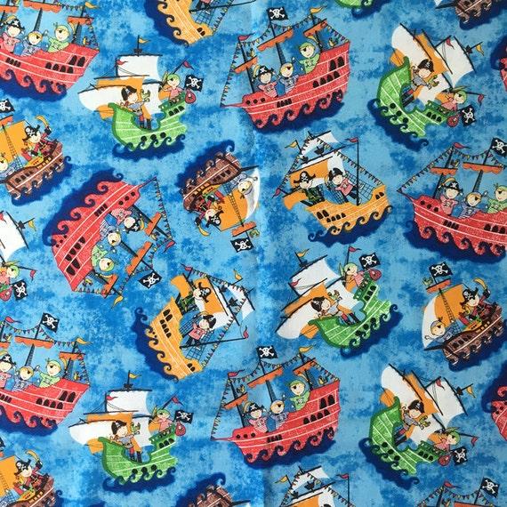 100 110cm pirate ship skull 100 cotton kids children for Kids pirate fabric