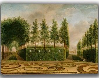 Johannes Janson: A Formal Garden. Fine Art Canvas. (04018)