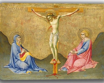 Sano di Pietro: The Crucifixion. Fine Art Canvas. (04176)
