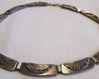 Sterling Silver LInk Collar NEcklace