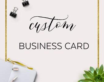 Custom Business Card Design, Made to Match Business Card, Digital Business Card, Personalized Business Card, Handmade Business Branding