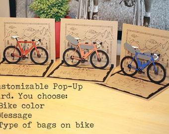 Adventure Bike Pop Up Card