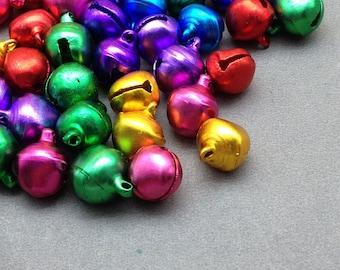 200pcs asorted color mini bells,pet bells,dog bells,Christmas bells,pendant bells,DIY bell,jingle bell 12mm