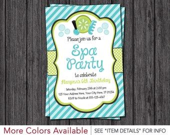Spa Party Invitation | Spa Birthday Party Invitations