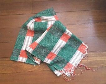Vintage cotton woven blanket 140-190 cm