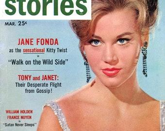 Screen Stories 1962  Jane Fonda Cover and Inside  Natalie Wood  Connie Stevens  Louise Brooks  Laurence Harvey  Jennifer Jones   more