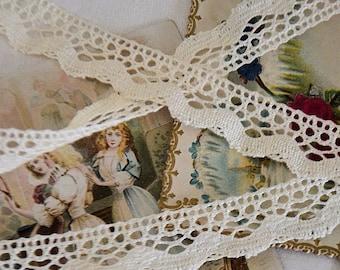 Vintage bobbin lace du Puy, 100% cotton
