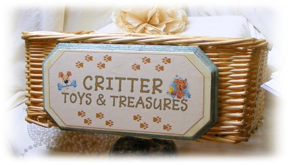 PET'S TOY BASKET  (Pet Toy Storage) . . . (Custom Orders Welcome)