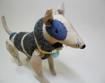 Spotted Dog,soft doll, soft toy,soft dog, doggy doll,by joohongbit