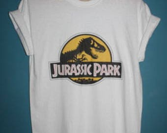 jurassic park logo t-shirt 1990s 90s retro indie movie cult vintage vtg urban outfitters hipster