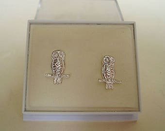 Owl Sterling Silver Or 9ct Gold Stud Earrings