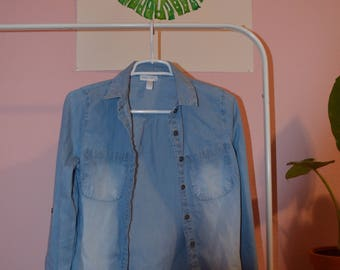 Full Tilt Denim Button Up XS
