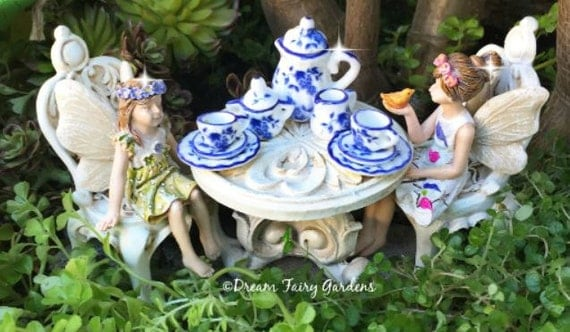 Image result for porcelain table chairs fairies