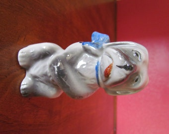 Dog Figurine- Hand Painted Japanese Porcelain- Pre-War- Very Cute