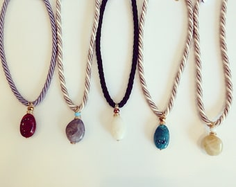 Simple rope acrylic necklaces