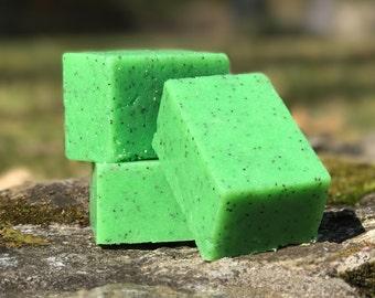 Cucumber Melon Solid Sugar Bar Scrub - All Natural Handmade with Avocado Oil