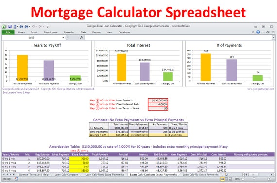 xls mortgage calculator