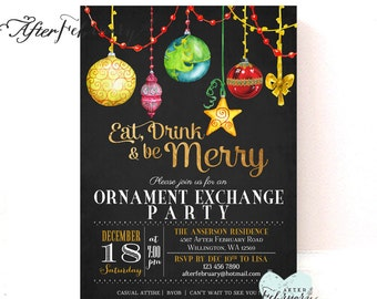 Ornament Exchange Invitation - Holiday Invitation - Ornament Exchange Party - Printable No.434