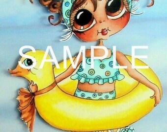 Fabric Art Quilt Block - Sweet Summer Dip  17-035  FREE SHIPPING