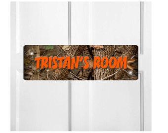 Personalized Kids Room Door Sign-Camouflage Bedroom Door Sign-Room Plaque