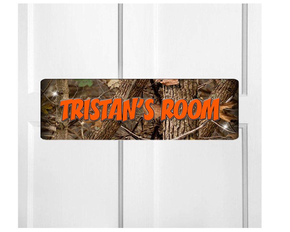 Personalized Kids Room Door Sign Camouflage Bedroom Door