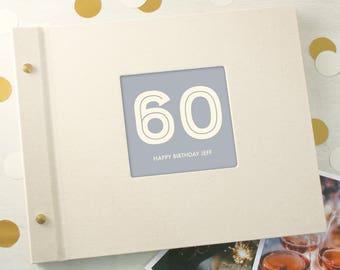 Personalised Typographic 60th Birthday Photo Album