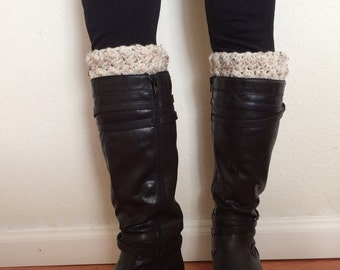 Handmade Ripple Leg Warmers, Boot Cuffs, Boot Toppers