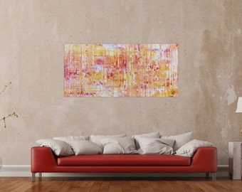 Original abstract artwork on canvas ready to hang 70x150cm #642