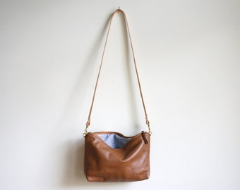 Mini Chocolate Leather Hobo