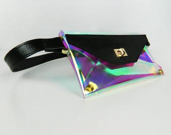 Holographic Fanny Pack, Transparent Waist bag, Bum Bag, Hip Bag, Festival Bag