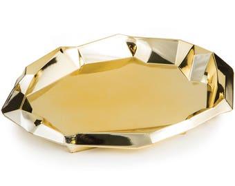 8/Elegant foil gold Appetizer plates / wedding /Bridal shower /anniversary / Birthday party / Tableware /gold tableware / gold