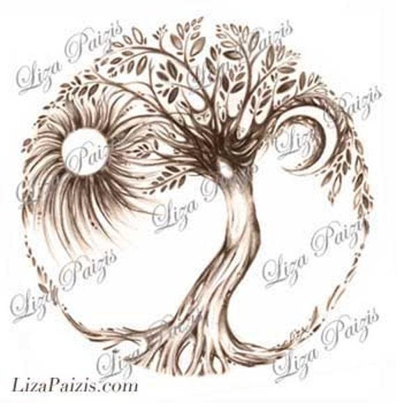 Tattoo Ideas Vita: PERSONALIZZATO Albero Della Vita Tatuaggio O Logo Design