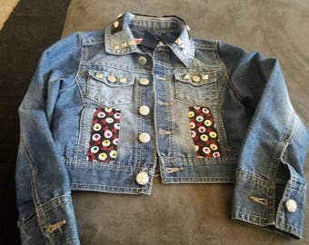 One of a Kind Kids Nightmare Before Christmas Jean Jacket!!