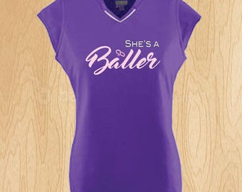 She's a Baller - Rally Jersey