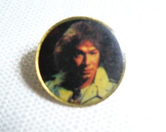 Vintage Early 1980s Alex Van Halen - Van Halen - Photo Dome Pin / Button / Badge