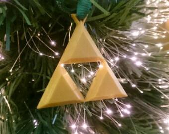 Legend of Zelda Triforce inspired Christmas Tree Decoration