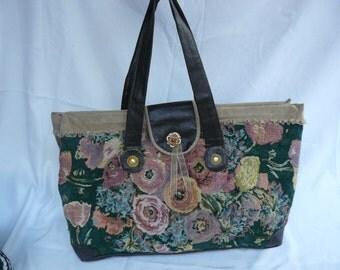 mary poppins bag heavy fabric handmade