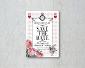 Alice in Wonderland Save the Date Card or Magnet