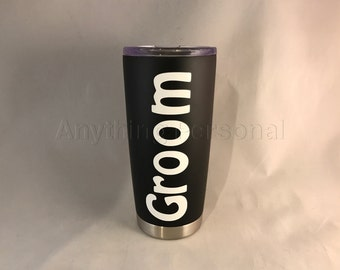Personalized Stainless Steel Cup, Stainless Steel Tumbler, Groom Cup, Personalized Gift, Groom Tumbler, Personalized Tumbler, Groom