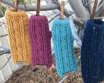 Crocheted Fingerless Hand Warmers